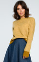 Mustard Boat Neck Jumper by MOE