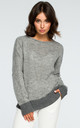 Grey Boat Neck Jumper by MOE