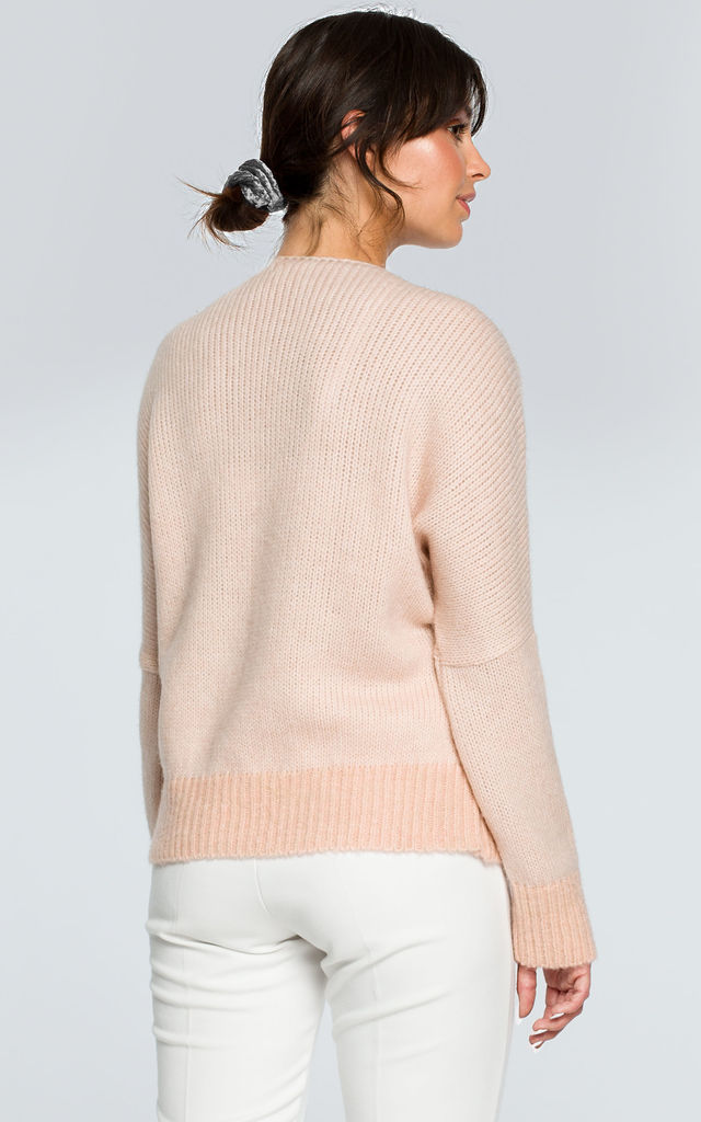 Light Pink Boat Neck Jumper by MOE