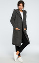 Graphite Hooded Long Cardigan by MOE