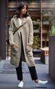 Light Brown Hooded Long Cardigan by MOE