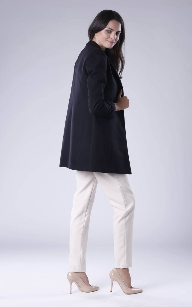Black Coat With Open Front by Bergamo