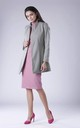 Grey Coat With Open Front by Bergamo