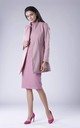 Pink Coat With Open Front by Bergamo