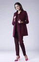 Maroon Coat With Open Front by Bergamo