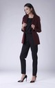 Maroon Classic Buttonless Jacket by Bergamo