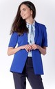Short Sleeve Jacket with Side Pockets in Cobalt Blue by Bergamo