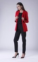 Red Classic Buttonless Jacket by Bergamo