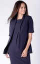 Short Sleeve Jacket with Side Pockets in Navy Blue by Bergamo