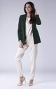 Green Classic Buttonless Jacket by Bergamo