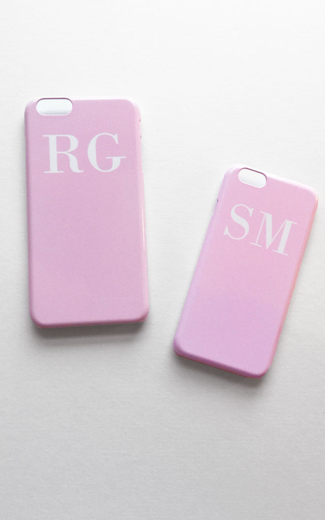 Soft Pink And White personalised Phone Case by Rianna Phillips
