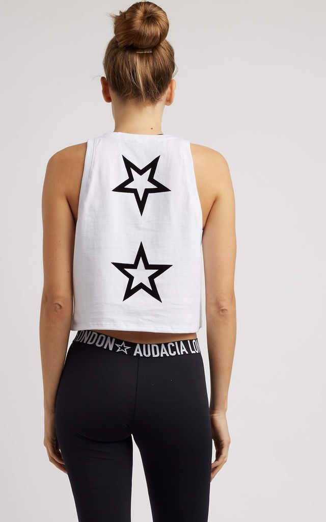 CROPPED STAR LOGO SLEEVELESS TEE by A U D A C I A L D N