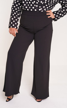 UNIQUE21 Plus Black Wide Leg Trouser by UNIQUE21