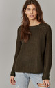 Mocha Round Neck Pullover Knit by ONLY