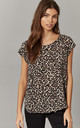 Leopard Round Neck Short Sleeve Top by ONLY