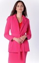 Pink Classic Long Sleeve Belted Jacket by Bergamo