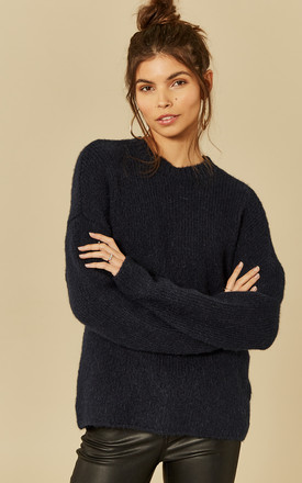Dark Sapphire Long Sleeve High Neck Knit by Selected Femme Product photo