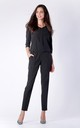 Black 3/4 Sleeve V-Neck Jumpsuit by Bergamo