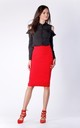 Red Midi Pencil Skirt by Bergamo