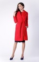 Red Belted Wool  Coat With Pockets by Bergamo