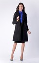 Black Belted Wool  Coat With Pockets by Bergamo