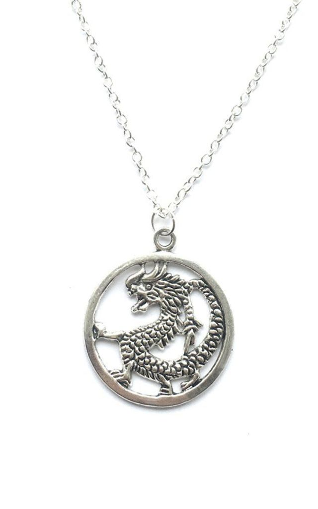 Good Luck Dragon necklace by MoonChild