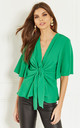Emerald Kimono Knot Top by Bella and Blue