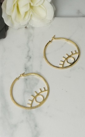 LASHES CUBIC ZIRCONIA STONE HOOP LUXE EARRINGS by EPITOME JEWELLERY