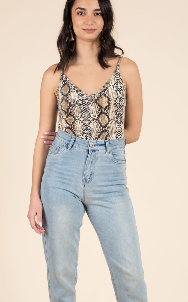 Snake Print Bodysuit by We Run This