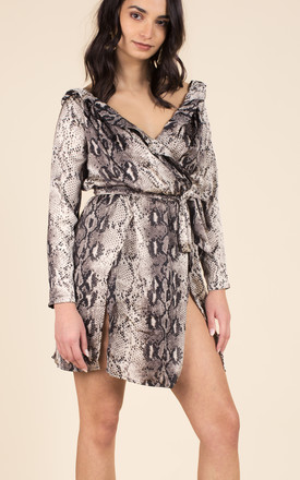 Grey Snake Print Dress by We Run This Product photo