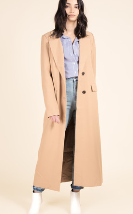 Camel Tailored Coat by We Run This Product photo