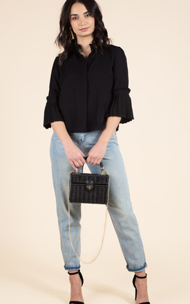 Black Pleated Shirt by We Run This Product photo