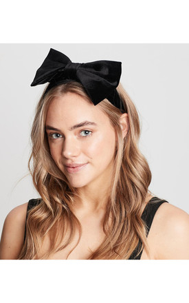 Black Velvet Bow Headband by Johnny Loves Rosie