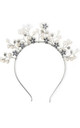 Silver Floral Embellished Crown Headband by Johnny Loves Rosie