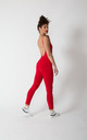 Santai Jumpsuit in Pomegranate Red by Manners London