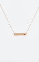 January Birthstone Garnet bar pendant (Rose gold) by DOSE of ROSE