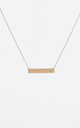 January Birthstone Aquamarine Bar Pendant (Rose gold) by DOSE of ROSE