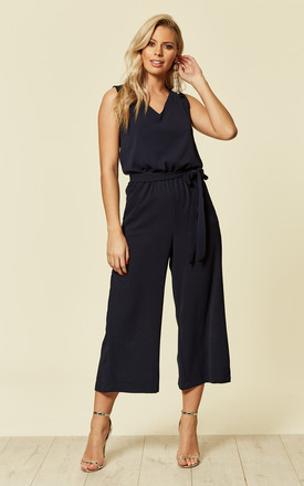 Jumpsuit Navy Blue Culotte Wide Leg by likemary Product photo