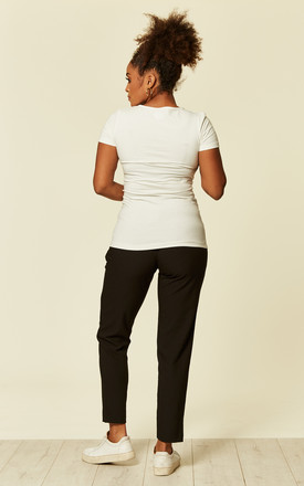 Black Maternity Tailored Trousers by Mamalicious