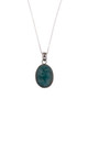 Sterling Silver Amazonite Crystal Necklace by Gypsy Spirit