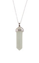 Sterling Silver Jade Point Necklace by Gypsy Spirit