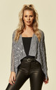 Sheer Chiffon Sequin Shrug Bolero Silver by likemary