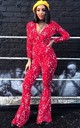 Band of Stars Jumpsuit Red by Willows Call