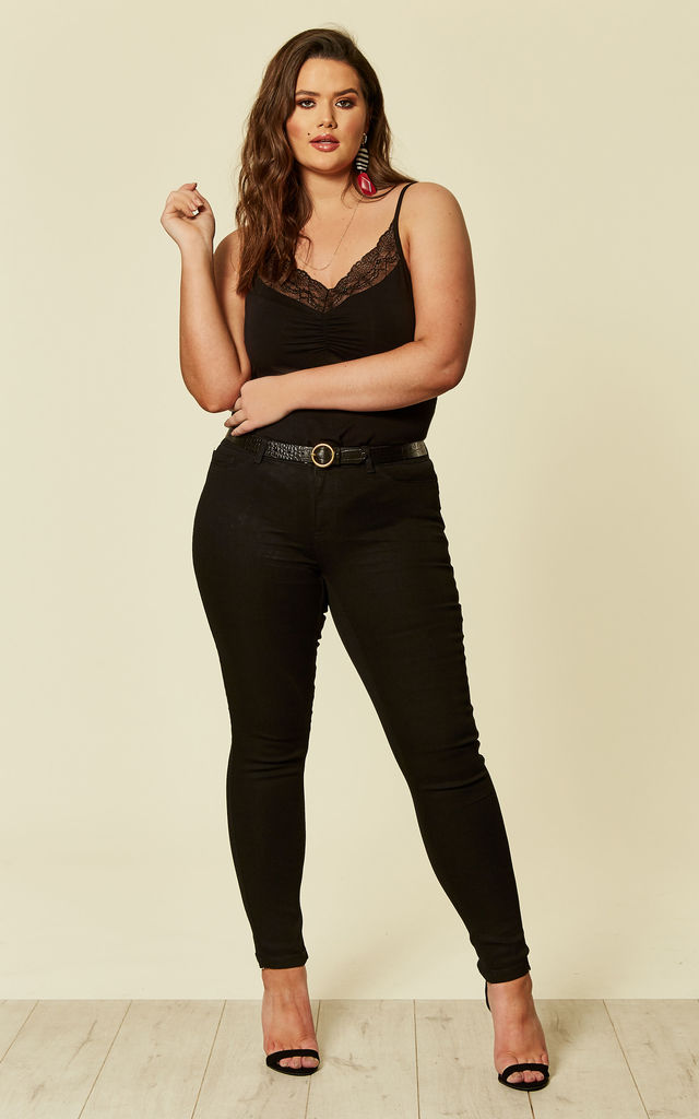Plus Size Black Slim Jeans by Juna Rose