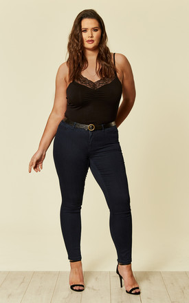 Plus Size Dark Blue Slim Jeans by Juna Rose Product photo