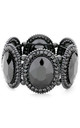 Chunky Black Jewelled Stretch Bracelet by Olivia Divine Jewellery