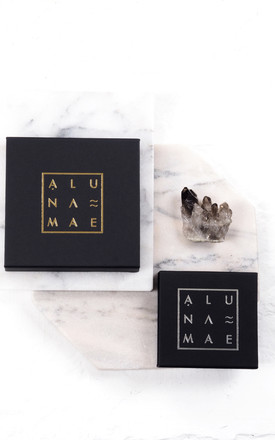 ALLIE. Cubic Zirconia Square Stud and Chain Earrings by Aluna Mae