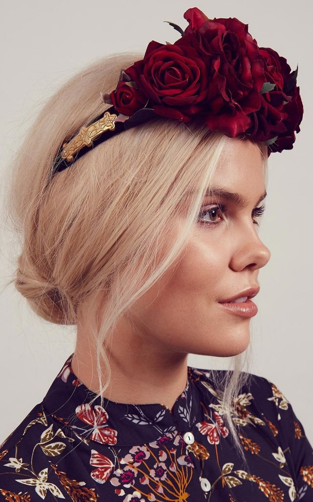 BEATRICE Red Rose Baroque Crown by Rock N Rose