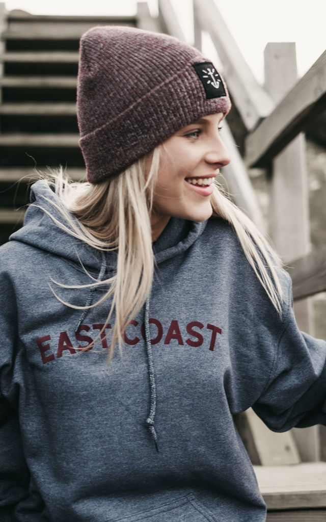 'East Coast' Heather Blue Hoody by ART DISCO