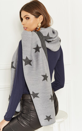 Grey Star Scarf by Lilah Rose